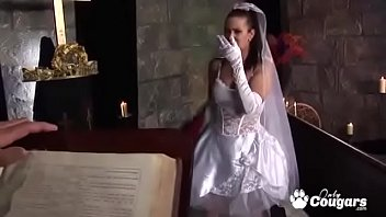 Naughty Bride Tanya Gives Up The Pussy To The Priest