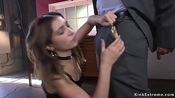 Watch Black boss Mickey Mod with a gun on her head makes brunette spinner Jane Wilde submit him in bondage and then with big black cock anal fucks her preview