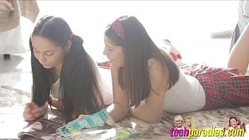 Two horny teens when licked...