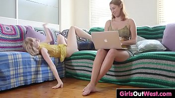 Hot lesbians with hairy cunts fuck on the sofa