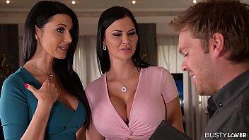 Convincing two lesbians swallow realtor's sperm