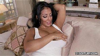 Busty Latina fucked and blowjob