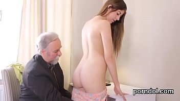 Sultry college girl was teased and banged by her aged schoolteacher