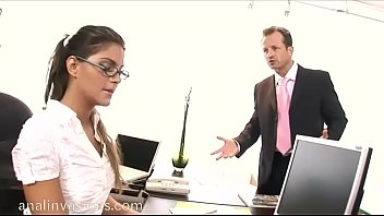 Sexy young secretary dreams to be fucked by her head office
