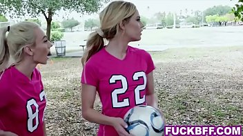 College teen girls playing soccer are down for whatever