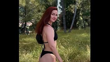 Outdoor sex, blowjob and naked walk KleoModel