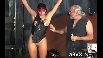 Breasty aged bondage porn