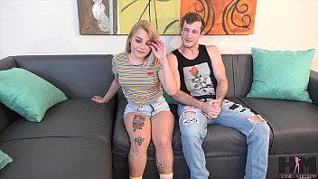 Skylar Valentine, 4'7 nympho tries out for porn with Brick Danger
