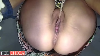 Female pissing bowl cam view