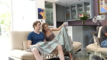 SpyFam Step Sister Lena Paul Fucked While Dad Watches Football Game