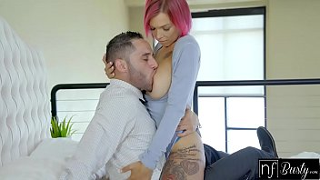 Anna Bell Peaks oils her fit body and fucks with some lucky guy