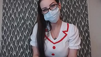 Sexy Nurse trains your ass with XL buttplug BBW femdom big boobs domme Thumbnail