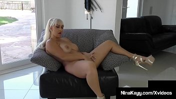 Watch Busty Big Butt Babe, Nina Kayy, finger fucks her curvy cunt while on her couch, after getting off on the phone! Cumming never felt this good - she loves it! Full Video & Nina Live @ NinaKayy.com! preview