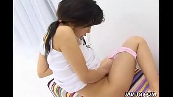 Pretty Japanese teen solo masturbation Uncensored