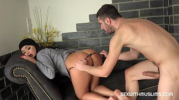 Muslim Bitch Daphne was looking for something in her purse, but her husband disturbed her. Mad was horny, harsh and eager. She licked his ass and sucked his balls. He fucked her hard on sofa and cum on her.