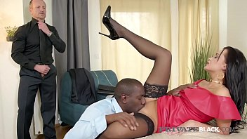 Dark Haired Housewife, Daphne Klyde, takes a pussy pounding & butt fucking by a Big Black Cock & her Hubby, giving her all dick in this hot interracial threesome! Full flick at PrivateBlack.com!