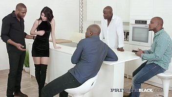 Hot Milky White Lady Dee takes on FOUR big black cocks in all her super tight fuck holes, getting DP'd, mouth fucked & anal packed until she gets her 4 milky loads! Full Flick at PrivateBlack.com!