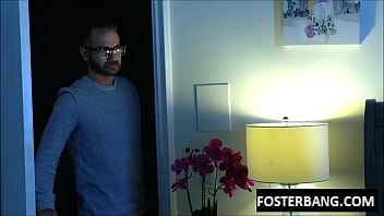 sneaking out foster daughter banged hard by dad