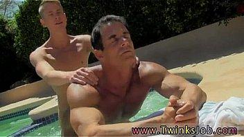 older men pool Naked daddy swimming