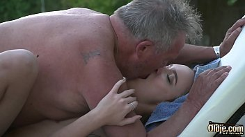 Teenager deep blowjob in sexy old young sex wit grandpa cock