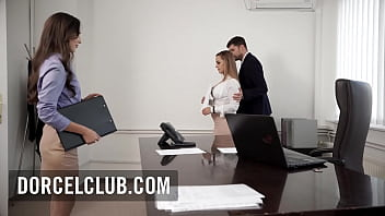 Hot brunette  seduces her manager and have sex on the desk