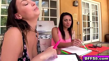 Girl sits on insane dildo