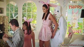 Man in rabbit suit secretly fucks teen daughter