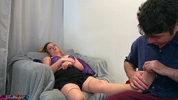 Stepmom gets massage and stepson's big dick