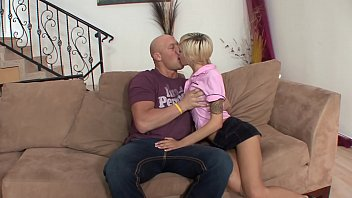Bully with shaved head penetrates tattooed blonde chick Emma Mae