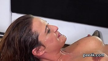 Watch Alluring chick enjoys pissing cock and gets covered with pee preview