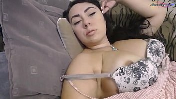 Woman Fingering Pussy through Panties - Solo