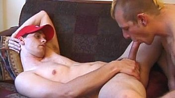 Teen gets dick in his ass and mouth