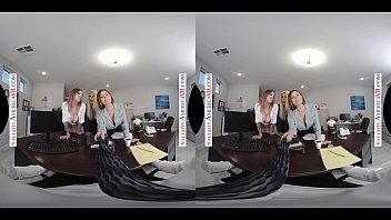 Watch 3 GIRLS FUCK YOU IN THE OFFICE IN NAUGHTY AMERICA VR! preview