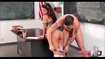 Cute latina fucked hard in class