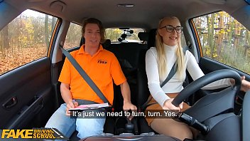 Fake Driving School Awesome Natural Tits Exposed During Learner Lesson