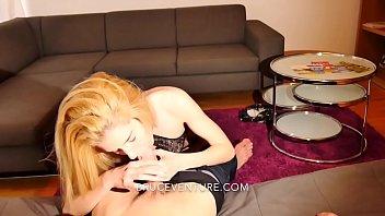 Skinny Blonde Hungarian Girl Sucks Huge Cock on Euro Trip Amateur POV Thumbnail