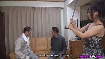 asian girl with natural tits fucked by two