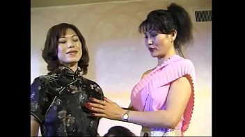 Rosy Rocket and Jade Marcela join to group  of slutty Asian babes at nasty Sapphic Bacchanalia