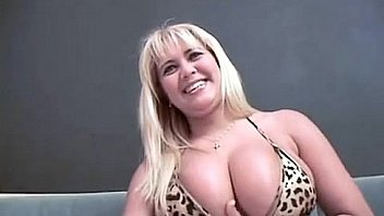 Busty big blonde MILF fucking big cock