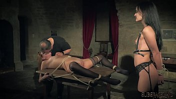 Slaves are tied up and punished because they were naughty