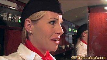 Stewardess free fuck tube hot stewardess sucks-3329
