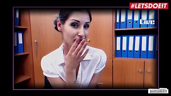 Watch LETSDOEIT - German Hot Babe Coco Kiss Takes Huge Cock In Office Sex Session preview