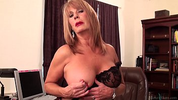 Watch Slutty mature blonde Rae Hart prefers posing and playing with her sissy preview