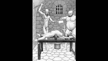 Dungeon terrors b. extreme bondage bdsm toons art
