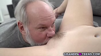 Hot Teen Sasha Sparrow Play And Fuck With Grandpa