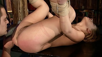 Nikky Thorne. Part 3. She gets spanking, obedient bondage blowjobs, ball licking-sucking, rough bondage sex, orgasm control.