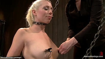 In live device bondage show mistress Claire Adams and master Orlando torment two sexy submissive blonde sluts MILF Lorelei Lee and Cherry Torn