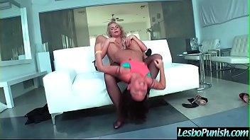 (Phoenix Marie & Amara Romani) Lesbian Girls In Punish Hard Sex Scene clip-28