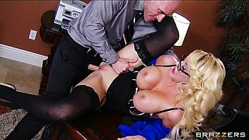 Watch Busty blonde MILF offers her intern a job if he_can fuck her right preview