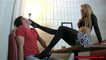 Marina Angel Ballbusting Waitress